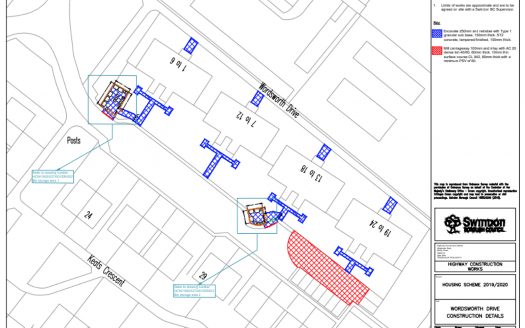 Wordsworth Drive - Proposed Works